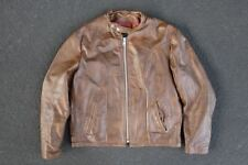 Vintage 60s Schott Cafe Racer Leather Jacket Size 46 L XL Coat Motorcycle Moto