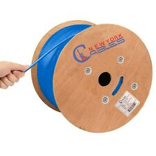 Cat6A Riser (Cmr) Bulk 1000ft Cable 100% Solid Bare Copper 23Awg 750Mhz Blue
