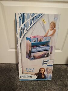 Delta Children Frozen II Design and Store 6 Bin Toy Organizer, FROZEN 2