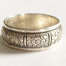 Vintage Heavy Celtic Solid Silver Chunky Spinner Band Ring Hallmarked 925 9.5g