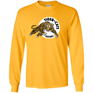 Hamilton Tiger Cats Retro CFL Logo G240 Gildan Long Sleeve T-Shirt