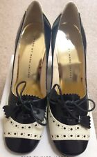 NEW MARC JACOBS Navy Blue & Cream Calf Leather Shoes RRP£495 EU36 UK3 New in Box