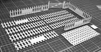 1:32 Scale Vintage Fence Panels + Gate Kit - for Scalextric/Other Static Layouts