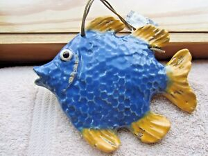 """Fish Wall Hanger, Rustic design by Creative Co-Op, 8.5"""" long by 7.5"""" tall, NWT's"""