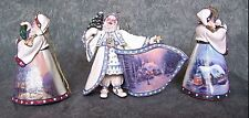 Thomas Kinkade Old World Santa's Set of 3 Ornaments First Issue New with COA