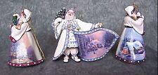 Thomas Kinkade Old World Santa's Set of 3 Ornaments First Issue New with COA