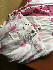Hello Kitty Twin Fitted Sheet And Flat Top Sheet Clean Used Bed Set Sheets