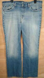 7 Seven for all ManKind Vintage Mens distressed light denim blue sz 36