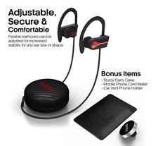 Senso Bluetooth Headphones, Best Wireless Sports Earphones w/ Mic Ipx7 Waterproo