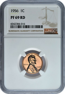 1956 Lincoln Proof Penny from Original Proof Set  2017 353