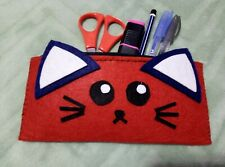 Cute Cat Design Handmade Pencil Case Make Up Case Pouch Gifts
