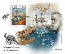 Angola 2019 Charles Darwin and dinosaurs S201905