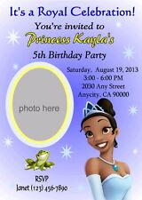 PRINCESS AND THE FROG CUSTOM BIRTHDAY PARTY INVITATION & THANK YOU CARD U PRINT