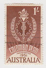 (W1491) 1961 AU 1/- brown Colombo plan (L)