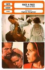 FICHE CINEMA : FACE A FACE - Ullman,Bergman 1975 Face To Face