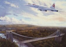 Concorde British Airways Airliner Aircraft Plane Blank Birthday Fathers Day Card