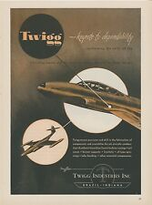1953 Twigg Industries Ad Mid Century Modern Graphics Jet Age Air Force Fighter
