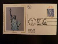 FRANCE PREMIER JOUR FDC YVERT 1672  STATUE DE LA LIBERTE   USA 22    NY/NJ 1986