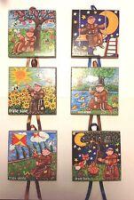 Piastrelle da parete pezzi 6, Cantico delle Creature di San Francesco Assisi