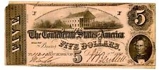 Confederate States of America … P-51b … 5 Dollars … 2.12.1862 … *Vg*.