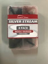 cortland silver stream 8 pack woly bugger with flybox. Stk#664500