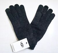 NWT UGG Women's Tech Knit Gloves, Charcoal Gray, 1 Size, Touchscreen Technology