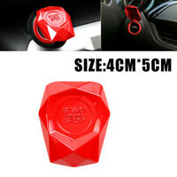 1x SUV Auto Car Decorative Accessories Red Button Start Switch Protection Cover