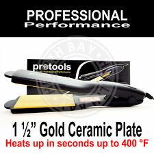 """Hair Straightener Flat Iron 1.5"""" BEST Gold Ceramic Plancha para Cabello Ceramica"""