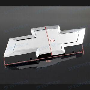 Grill Bowtie Emblem White For 2016-2018 Chevy Chevrolet Silverado 1500
