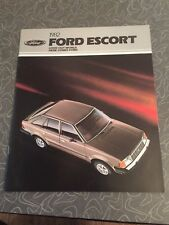 1982 Ford Escort Car Auto Dealership Advertising Brochure