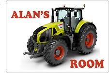 Personalised Tractor Kid's bedroom Door sign Plaque boys Claas Massey John Deere