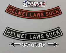 HELMET LAWS SUCK MOTORCYCLE HELMET DECAL STICKER (2x)