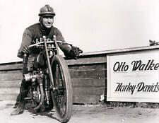OLD LARGE MOTOR RACING PHOTO, Otto Walker Harley Davidson motorcycle rider 1922