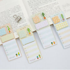 2pcs/lot New Cactus Memo Pad Sticky Note Cute Planner Label Stickers Stationery