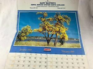 VINTAGE 1989 AMPOL CALENDAR - GARY BAXTER'S AMPOL SERVICE CENTRE NTH ADELAIDE