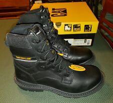 95fd40c73fbed2 Caterpillar Mens Generator Waterproof Steel Toe Work BOOTS Black Leather  P89987 10.5 Wide (e)