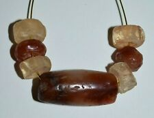 Ancient Agate Stone Excavated Djenne Dig Beads Mali African Trade 1000 Years Old