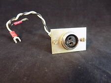 """ELECTRICAL PLUG two 3/32"""" female pin receptacle w/ bracket or surface mount"""