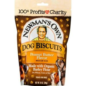 Newman's Own Dog Biscuits Peanut Butter Flavor 10 oz Bag