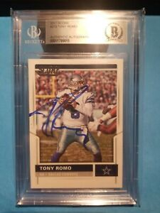 Tony Romo Dallas Cowboys In person Autograph on Card Beckett Authentic 2018 #2