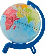 "Giacomino 6"" World Globe Map With Continents Countries Oceans Animals - NEW"