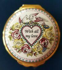 Halcyon Days Enamel Box St. Valentine's Day 1996 * Free Shipping *