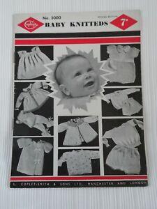 Original 1950's Knitting Pattern Baby Knitteds  Copleys 3000