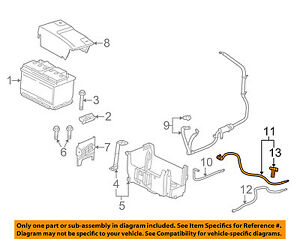 GM OEM Battery-Negative Cable 23133669