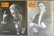 Genii Magic Magazine May and October 1972 Harry Houdini Special Issue + Dai Vern