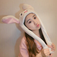 Cute Rabbit Hat Ear Will Move When You Hold The Leg Funny Plush Hat Toy Tik Tok
