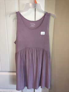 NWT Time And Tru Babydoll Purple Maternity  Tank Shirt Size Medium (8-10)