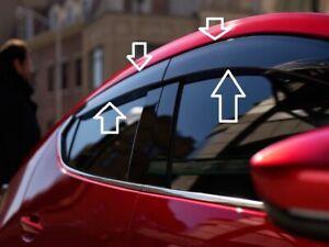 2019-2021 Mazda 3 Hatchback 5-Door Side Window Vent Visors (Set of 4) BEMFV3700