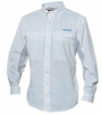 Shimano Long Sleeve Vented Fishing Shirt 2X Upf30+ White Xxl New