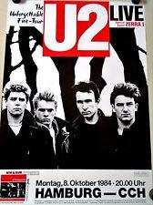 "U2 - Orig. vintage Poster / 1984 Unforgettable Fire / Exc. New Cond. / 20 x 28"""